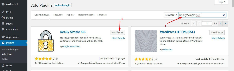tim kiem plugin Really Simple SSL