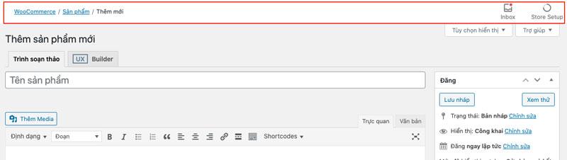 ẩn layout header breadcrumb trong WooCommerce admin panel