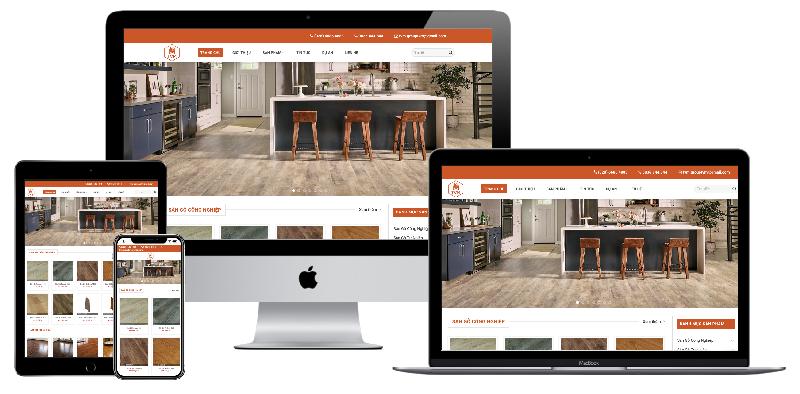 Giao diện website kinh doanh sàn gỗ