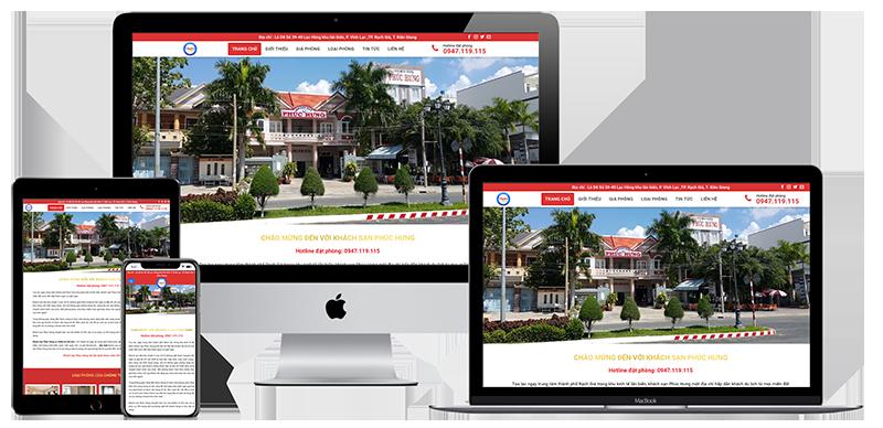 Giao diện website khách sạn Phúc Hưng Kiên Giang