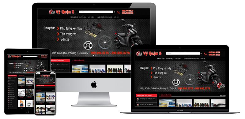 Giao diện website bán phụ tùng xe máy