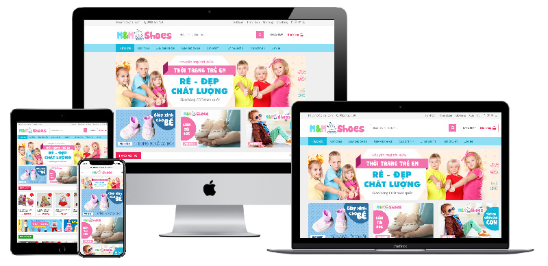 Giao diện website bán quần áo trẻ em