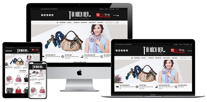 Giao diện website bán túi xách đẹp