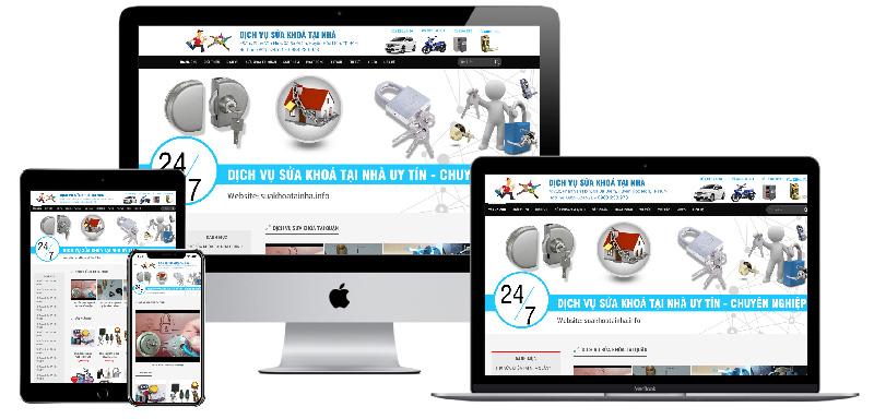 Giao diện website bán khoá sửa khoá tại nhà