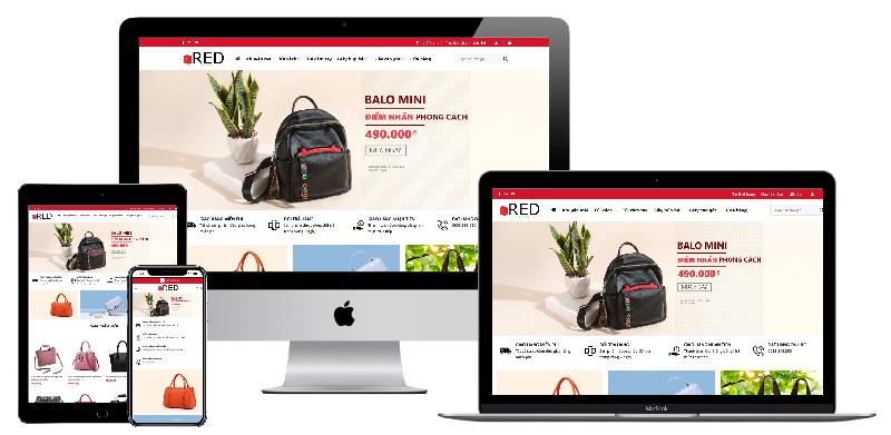 Giao diện website cửa hàng túi xách