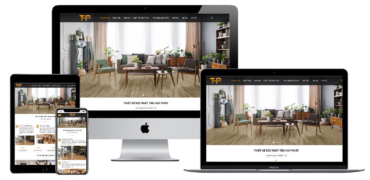 Giao diện website thiết kế thi công nội thất
