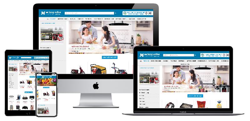 Giao diện website bán hàng và Affiliate