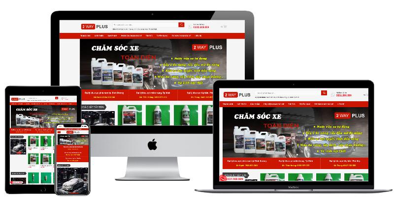 Giao diện web sản phẩm chăm sóc xe