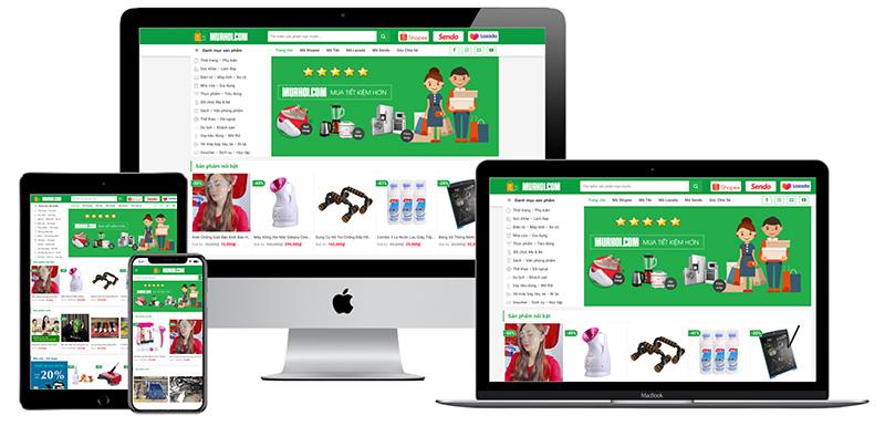 Giao diện website tiếp thị liên kết Affiliate
